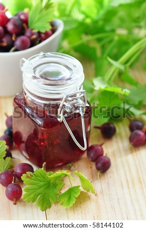 Gooseberry jam - stock photo