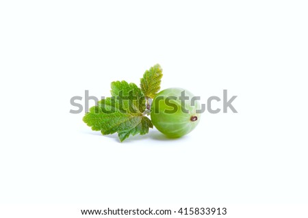 Gooseberry on a white background
