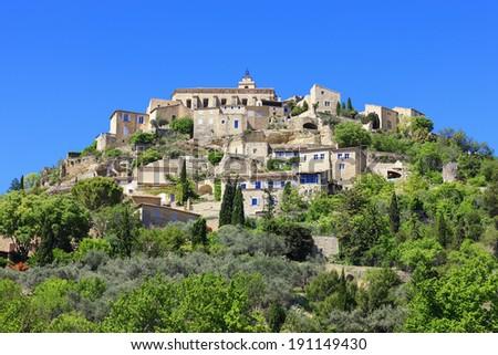 Gordes medieval village in Southern France - stock photo