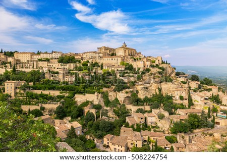 Gordes medieval village. Typical small town in Provence, Southern France.