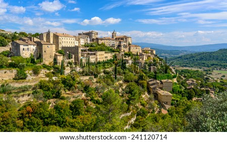 Gordes, Vaucluse, South of France, Provence - stock photo