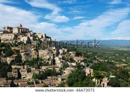 Gordes village of avigon france - stock photo