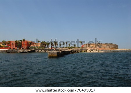 Goree Island seen from the sea