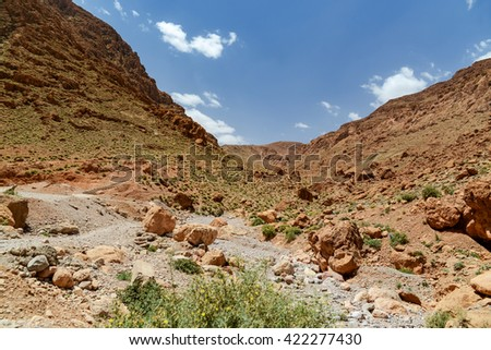 gorge of todra in morocco
