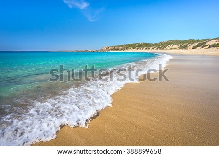Gorgeous beach on the Australian Coastline - stock photo