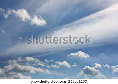 Gorgeous blue sky with spectacular cloud formation