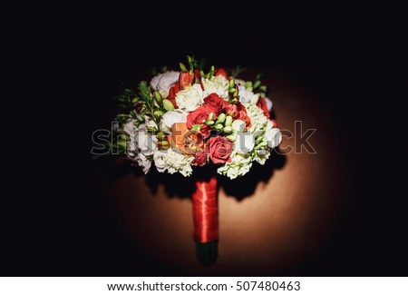 gorgeous bouquet of flowers for the  young bride