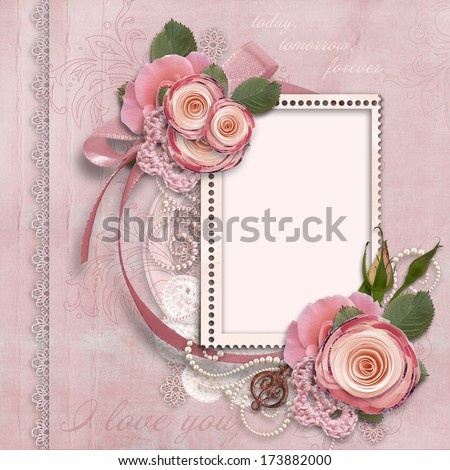 gorgeous card for Valentine's Day - stock photo