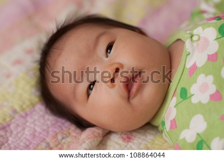 Gorgeous East Asian Baby Infant Girl - stock photo