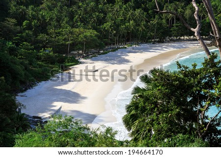 Gorgeous Freedom Beach at morning Taken from high point, Phuket, Thailand - stock photo