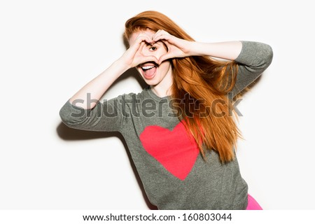 Gorgeous Funky Girl - stock photo