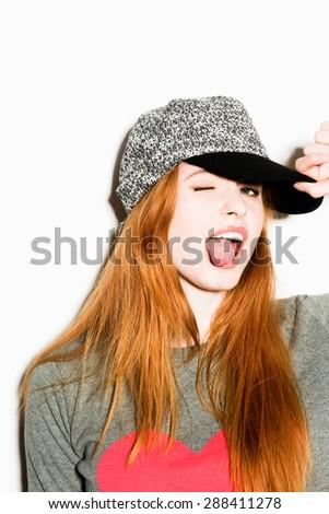 Gorgeous Funky Girl - stock photo