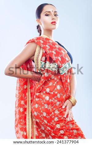 Gorgeous Indian girl - stock photo