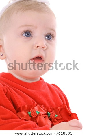gorgeous infant - stock photo