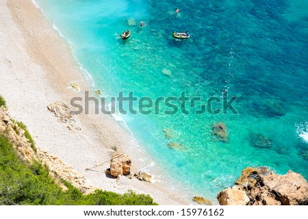 gorgeous mediterranean beach in summertime