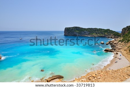 gorgeous mediterranean coast beach in summer