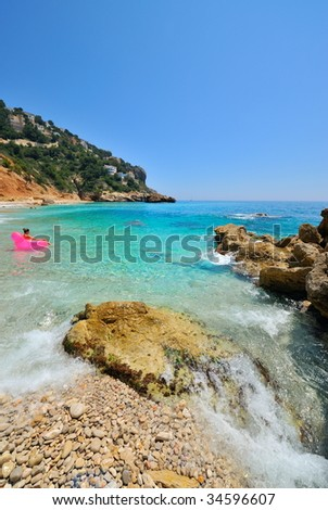 gorgeous mediterranean coast in summer
