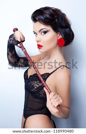Gorgeous mistress - stock photo