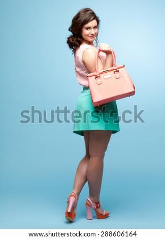 Gorgeous Plus Size Fashion Model - stock photo