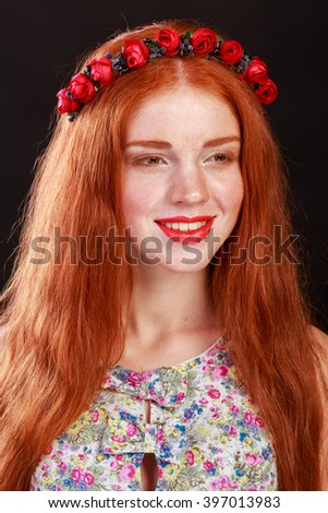 Gorgeous red-haired girl