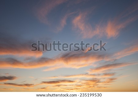 Gorgeous South African Golden Sunset - stock photo
