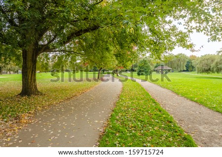 Gorgeous walk in the park. John Hendry Park in Vancouver. Canada. - stock photo