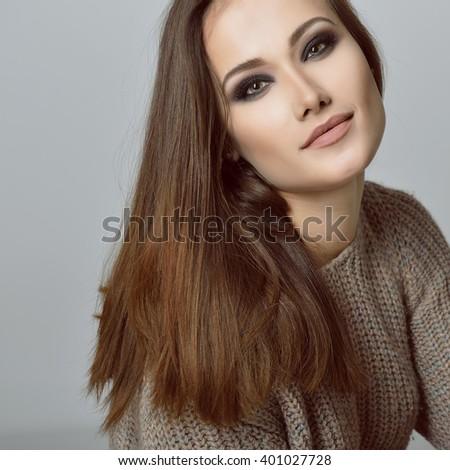 Gorgeous woman. Beauty female portrait. - stock photo