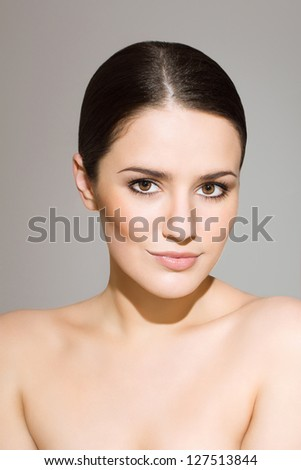 Gorgeous woman with beautiful skin - stock photo