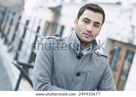 Gorgeous young man posing, outdoor - outside