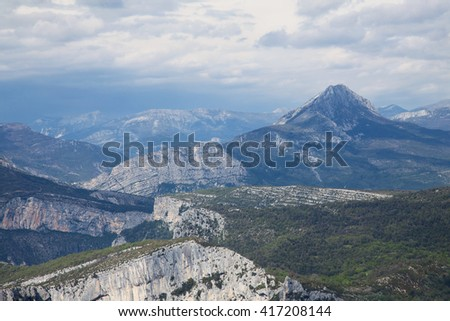 Gorges du Verdon, Provence, France, Europe. Beautiful view on the mountains - stock photo