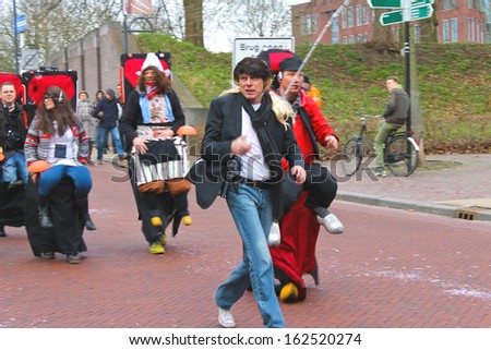 GORINCHEM, THE NETHERLANDS - FEBRUARY 9: Annual Winter Carnival on February 9, 2013 in Gorinchem, the Netherlands.