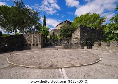 Gorizia, a castle in northern Italy - stock photo