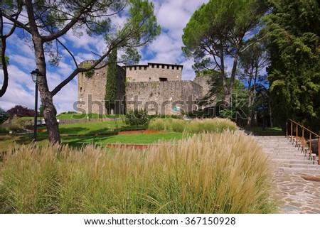 Gorizia in Italy, the castle - stock photo