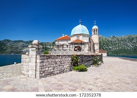 Gospa od Skrpjela (Our Lady of the Rocks), Perast, Montenegro - stock photo