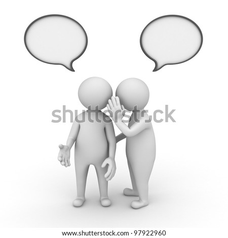 Gossip concept on white background
