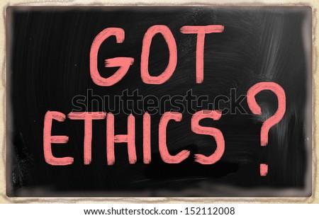 Got Ethics? - stock photo