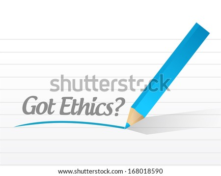 got ethics question illustration design over a white background - stock photo