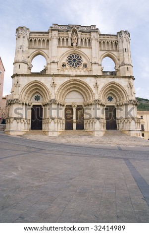 Gothic cathedral of the Cuenca (Basilica of Our Lady of Grace), Castilla La Mancha, Spain