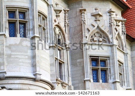 Gothic decorations of medieval castle, Romania