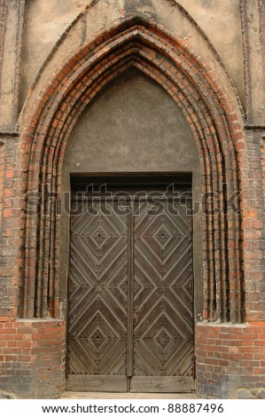 Gothic doors to old church