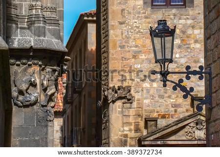 Gothic quarter, Barcelona - stock photo