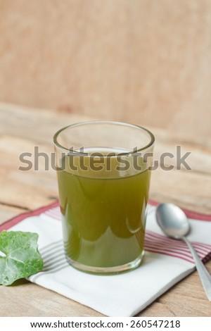 Gotu kola's leafs drink. - stock photo