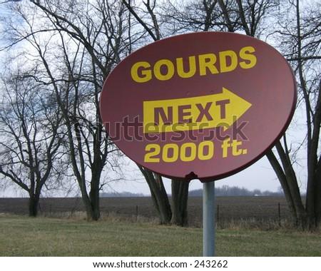 gourd satellite dish sign - stock photo