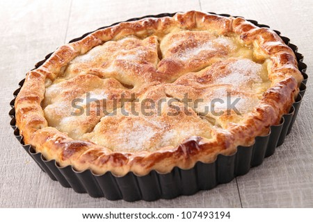 gourmet apple pie - stock photo