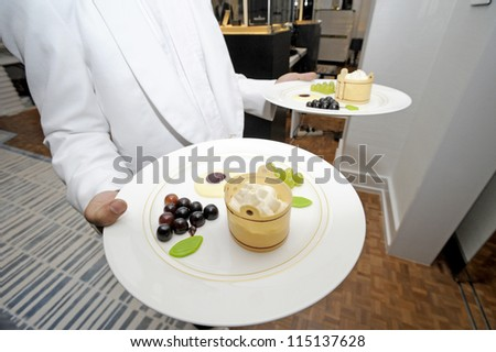 Gourmet catering for a special serve - stock photo