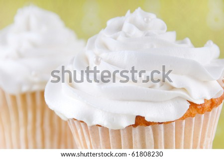 Gourmet cupcakes - stock photo
