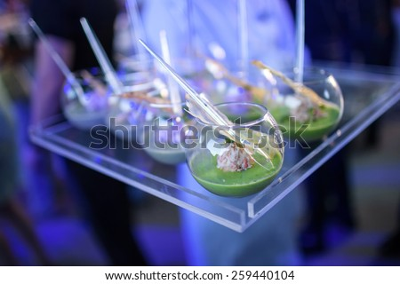 Gourmet Delicious Dishes and Food Catering (Fusion Cuisine) - stock photo