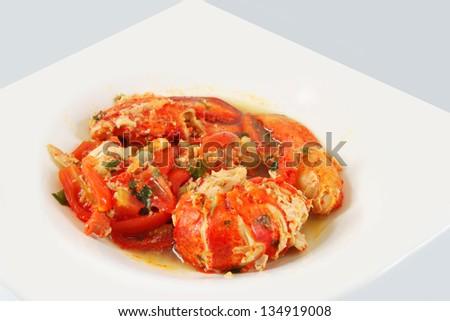 Gourmet lobster dinner, dish - stock photo