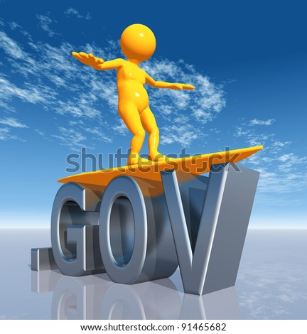 GOV Top Level Domain Computer generated 3D illustration - stock photo