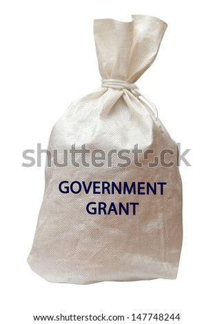 Government grant - stock photo